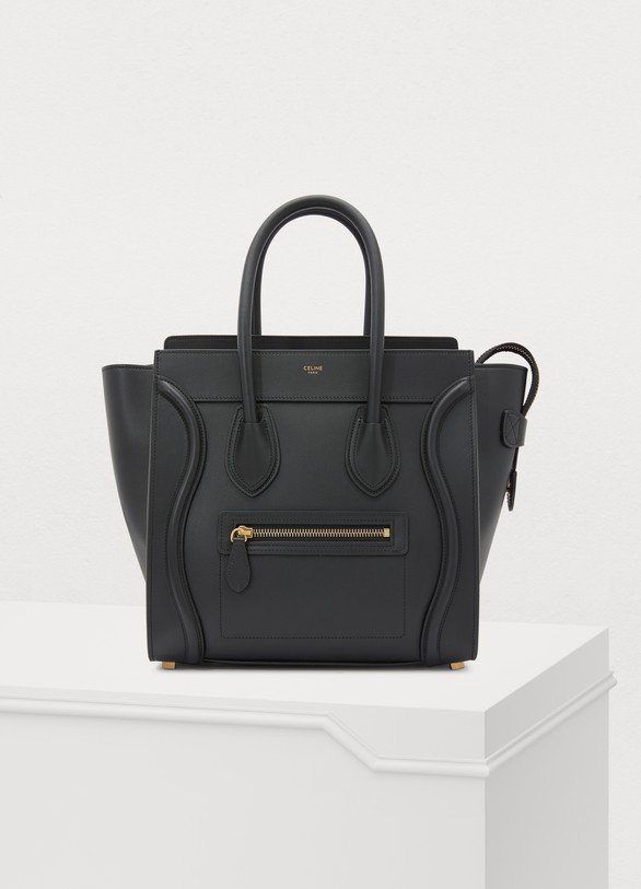 Celine Micro Luggage handbag in smooth calfskin