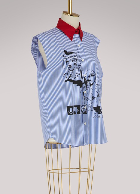 PradaStriped sleeveless shirt