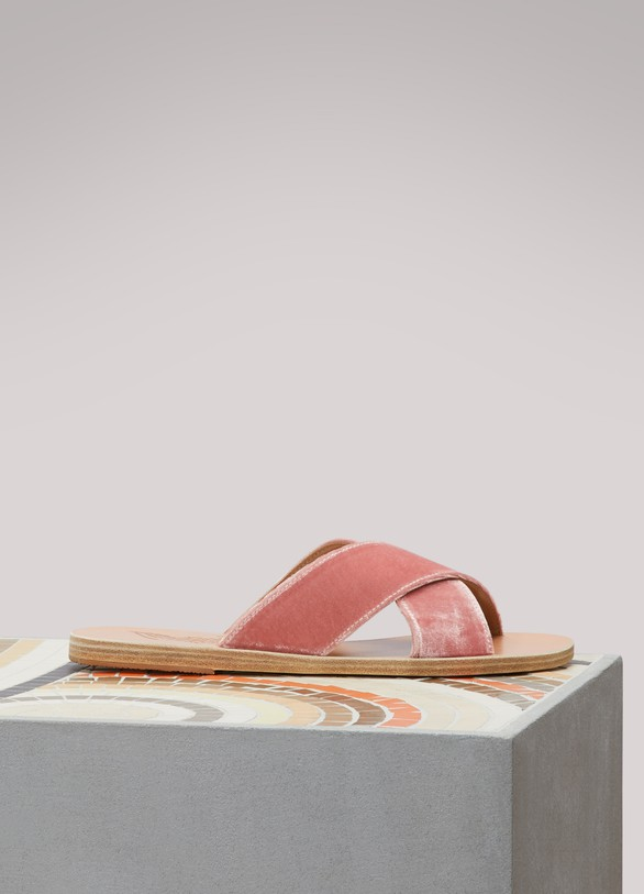 Ancient Greek SandalsSandales Thaïs en velours