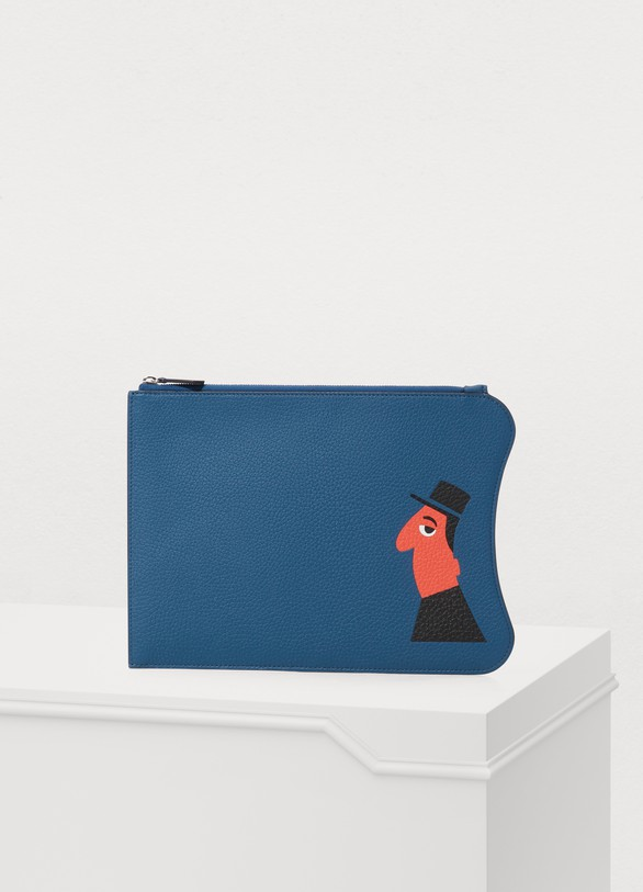 Moynat Michel Leather Pouch