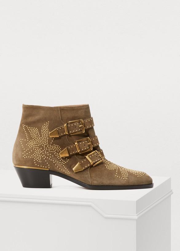 ChloéSusanna smooth calfskin short boots