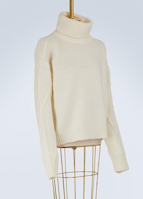 Tory BurchRetractable turtleneck Eva sweater