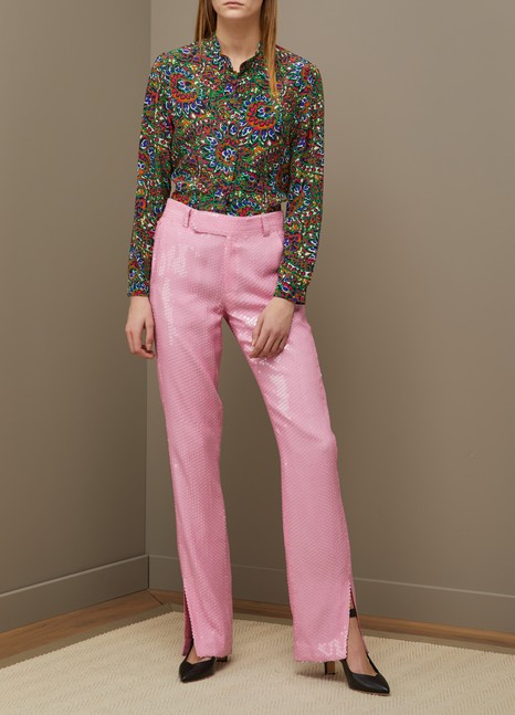 MSGM Pantalon droit à sequins