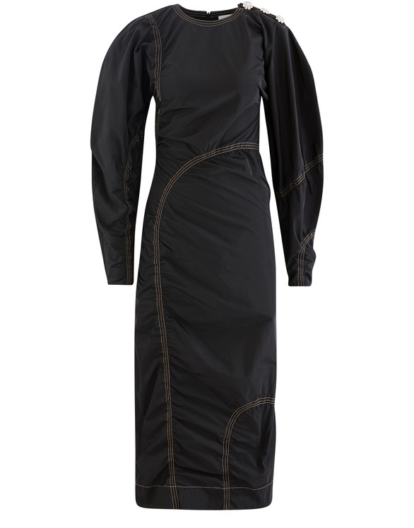 GANNI Recycled polyester midi dress