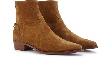 CELINE Jacno buckled ankle boot in calfskin suede