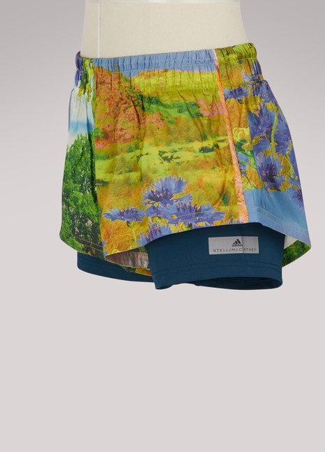 Adidas by Stella McCartneyShort run two-in-one nature print