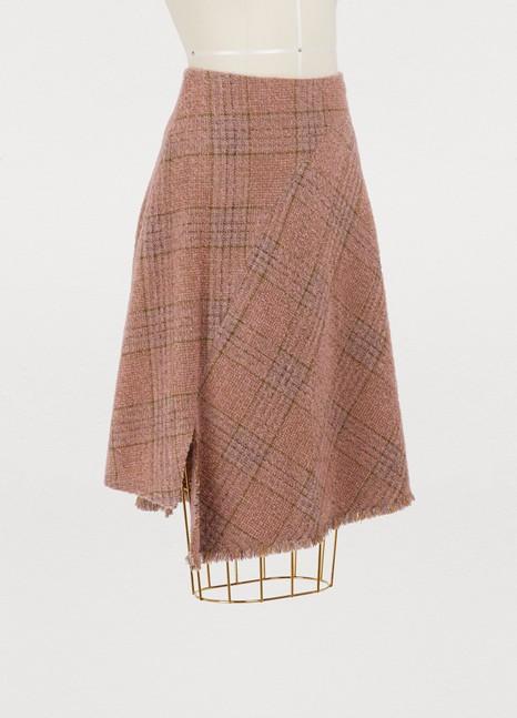 Acne StudiosPlaid wool skirt