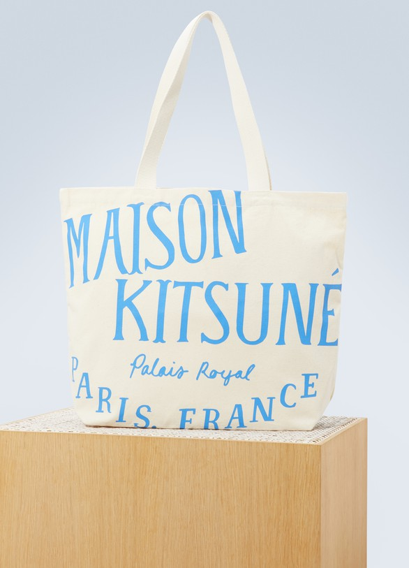 Maison KitsunéLogo cotton shoulder bag