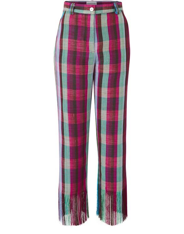 KENNETH IZEOkatu fringed trousers