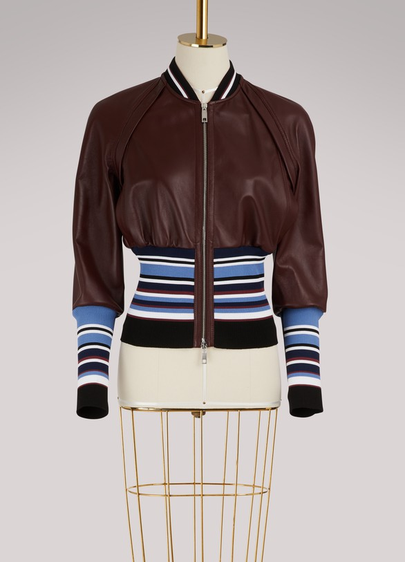 SportmaxJuditta leather bomber jacket