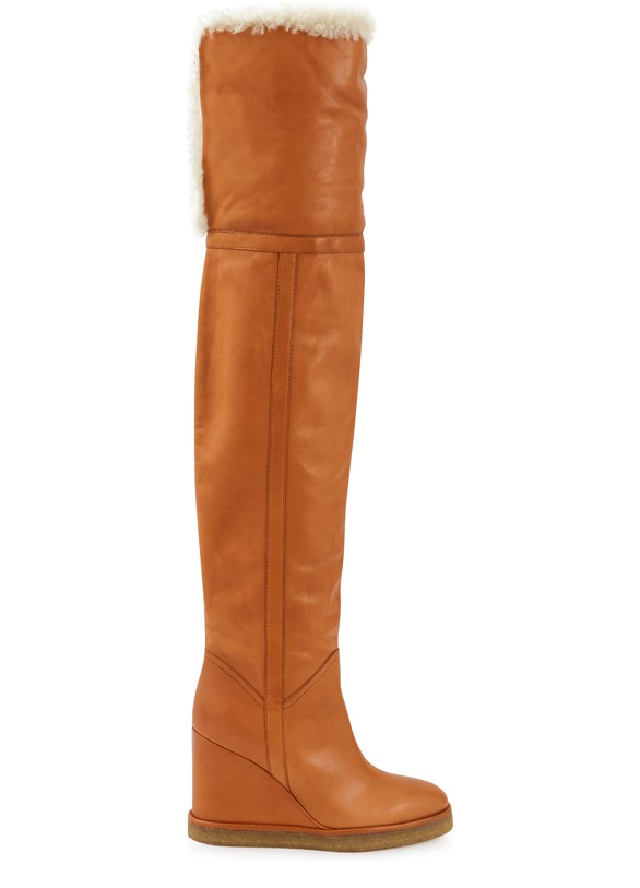 CELINEManon Wedge thigh boots