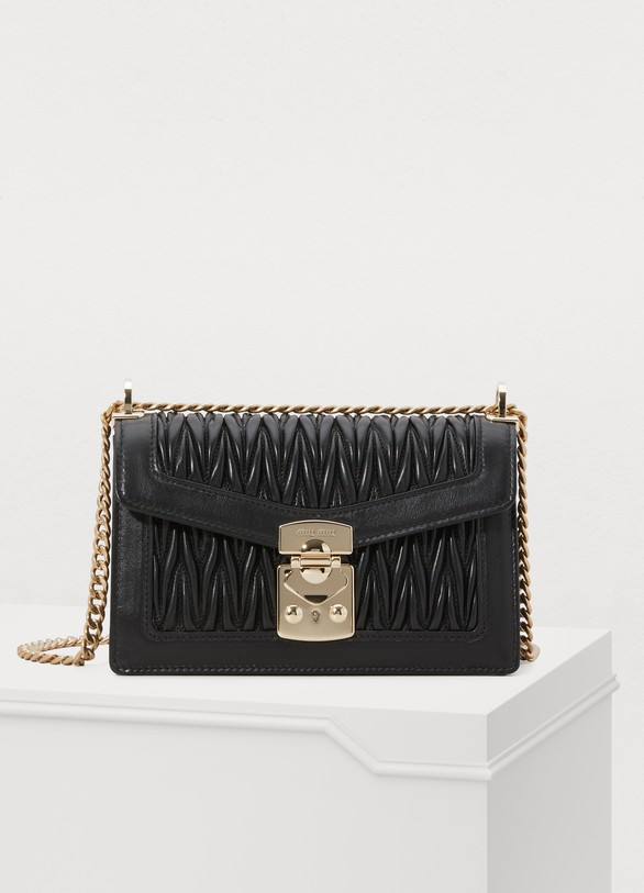 fd855b3b472 Women s Miu Confidential matelassé crossbody bag