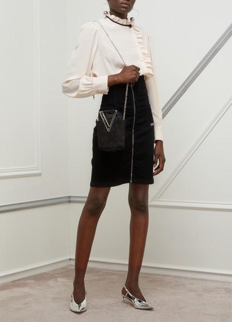 OFF-WHITEHigh-waisted denim skirt
