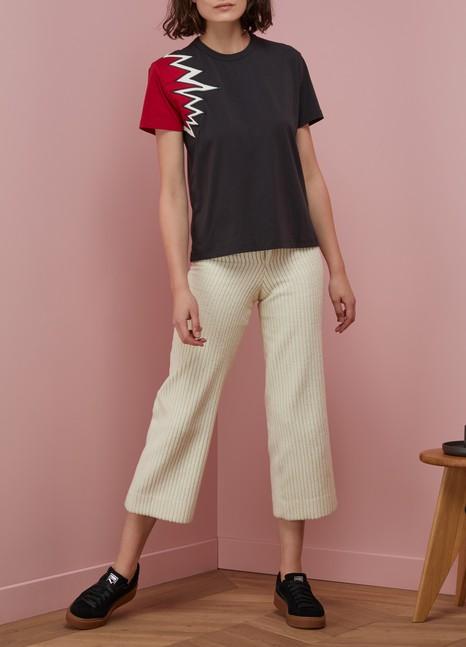 MAISON KITSUNET-shirt Flash en coton