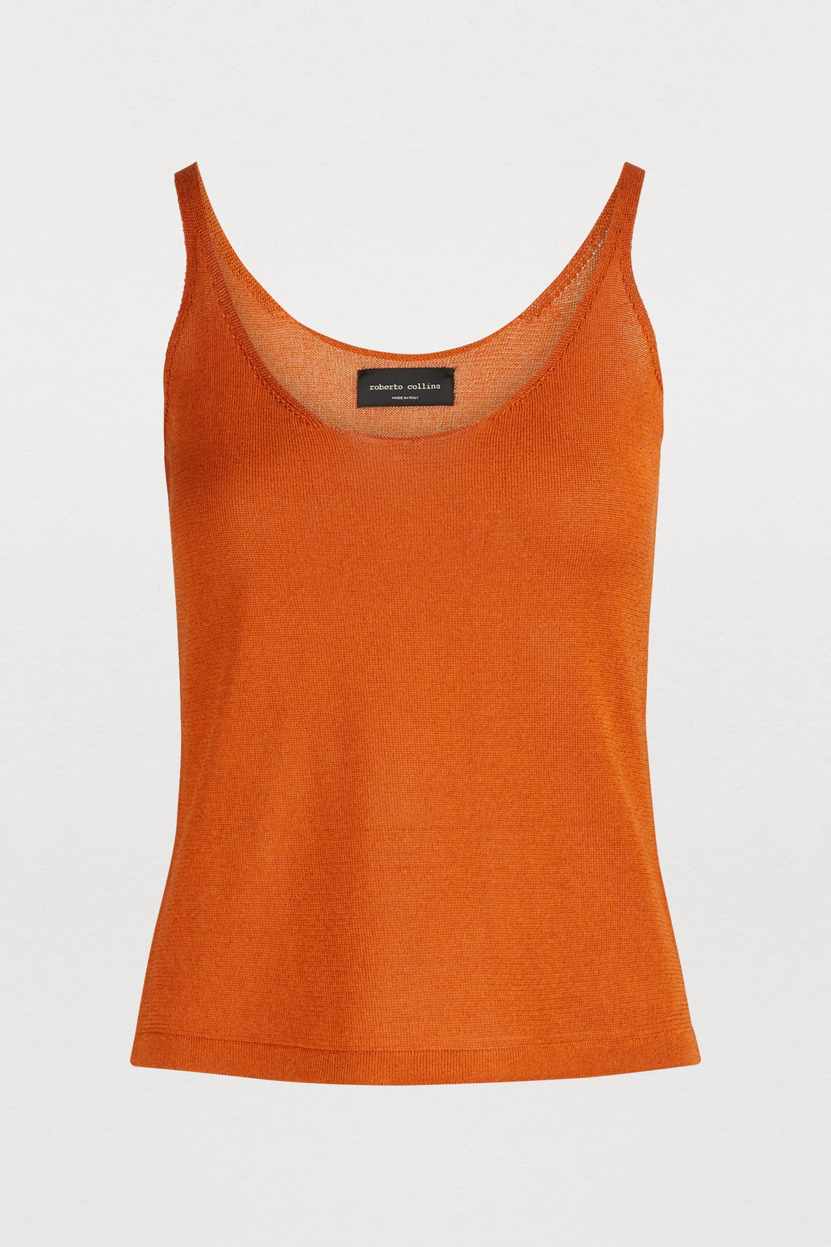 Roberto Collina OVAL-NECK TANK TOP