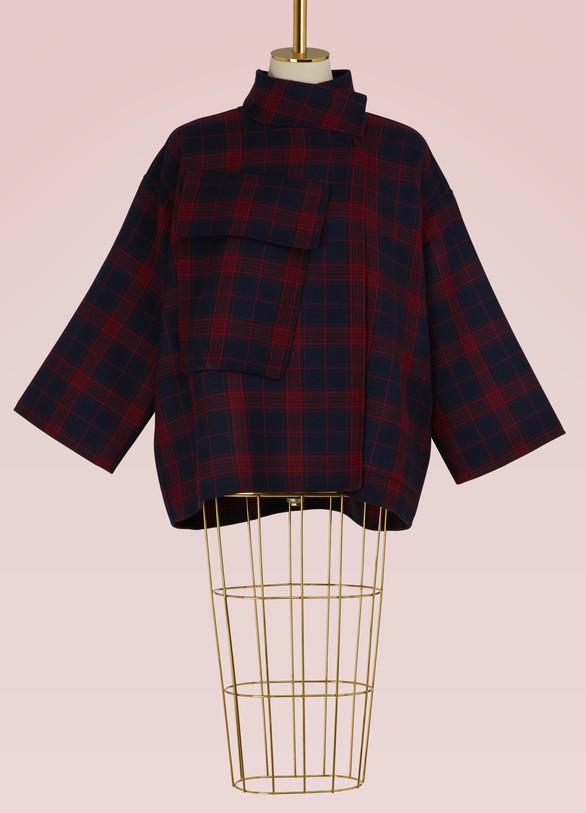 Sofie d'HooreWool tartan short coat