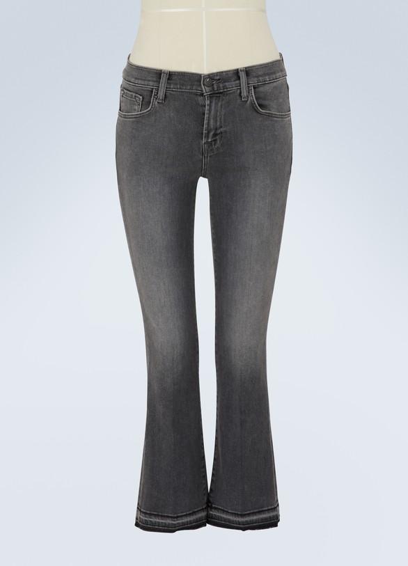J BrandSelena mid-rise cropped bootcut jeans