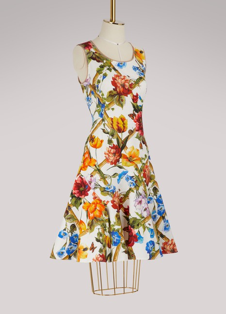 Dolce & Gabbana Bamboo printed midi dress