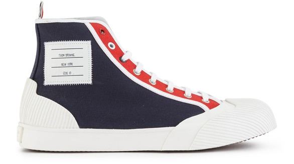 THOM BROWNE Vulcanized high-top sneakers