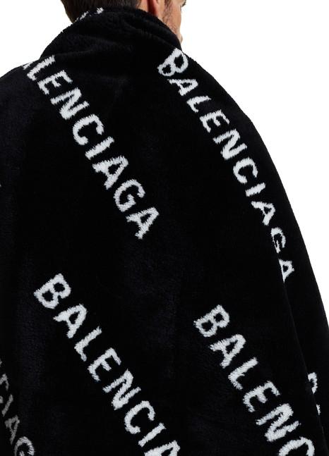 BALENCIAGAMultilogo faux fur scarf