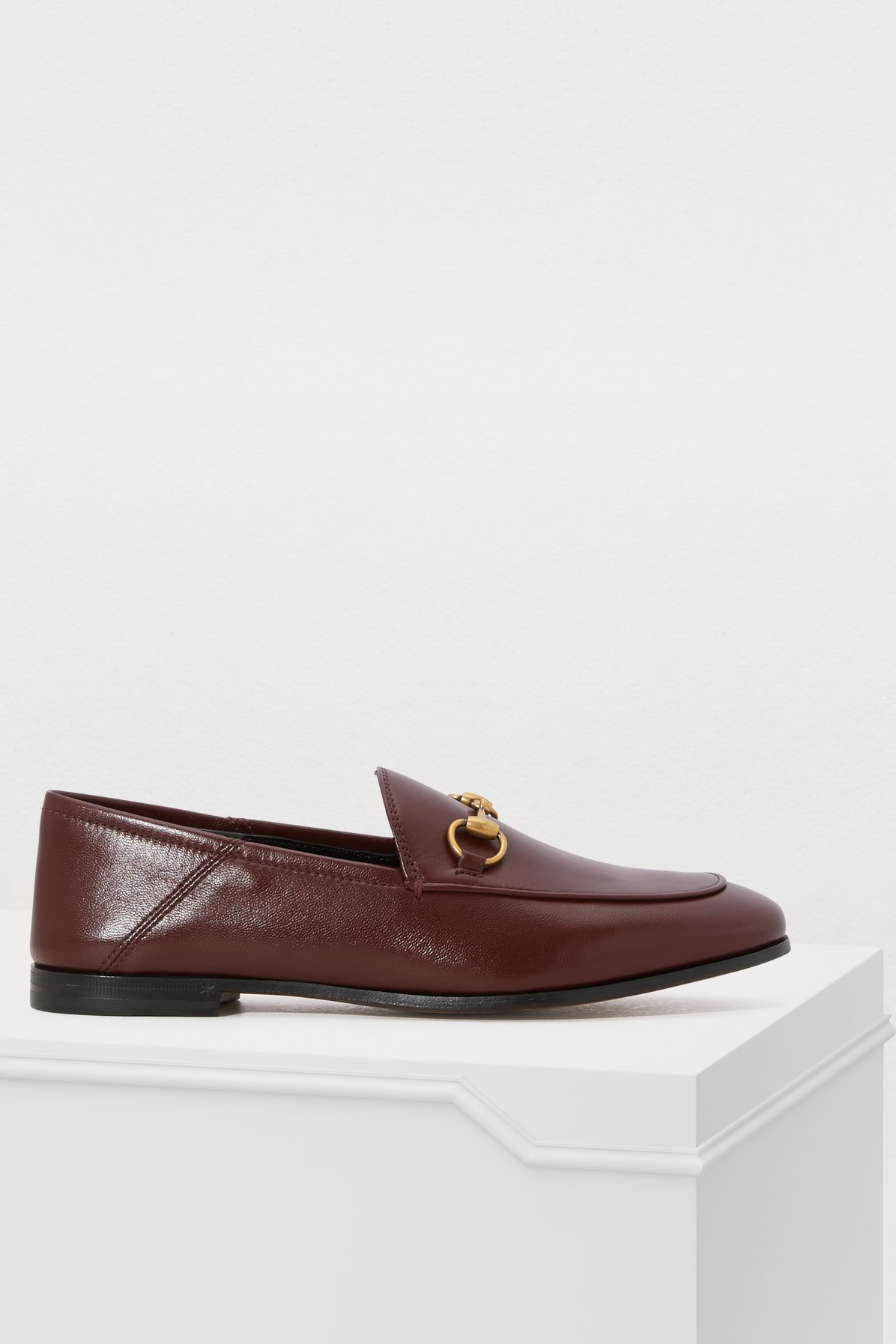d0bca6d05ba Gucci - Brixton Horsebit-detailed Leather Collapsible-heel Loafers ...