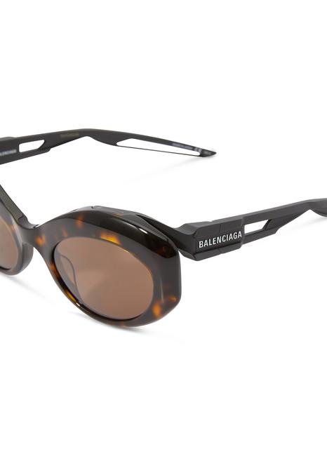 BALENCIAGAHybrid Oval sun glasses