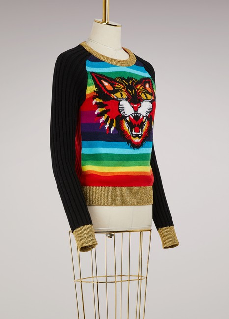 GucciPull en maille Angry Cat