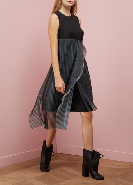 PaskalWool dress with tulle