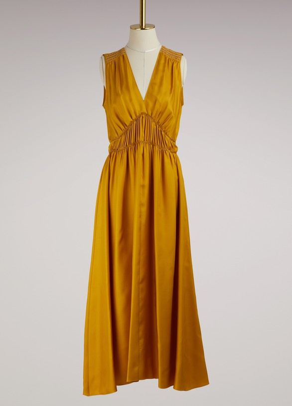 Forte_ForteSleeveless embroidered silk dress