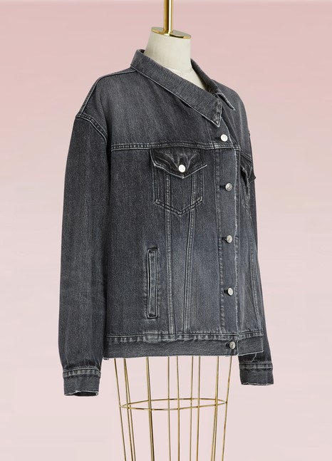 "BalenciagaVeste en jean à fermeture ""pulled"""