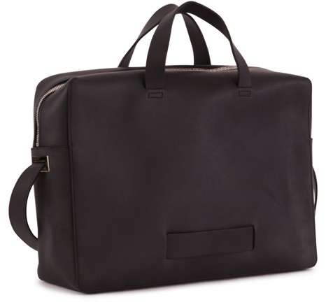 LE FEUILLETOver the shoulder leather briefcase