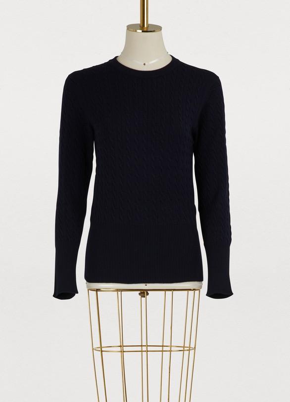 Thom BrowneWool round neck sweater
