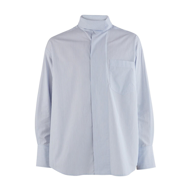 Chemise à col drappé