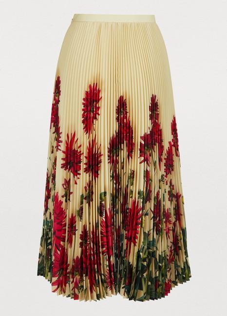 Dries Van NotenPleated printed skirt