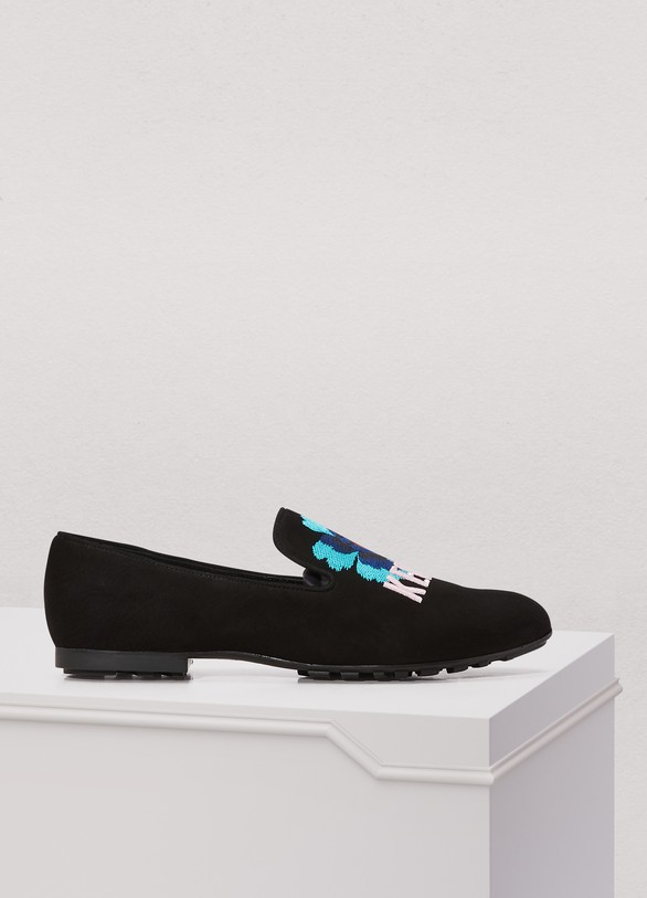 Kenzo Lamb flowers loafers