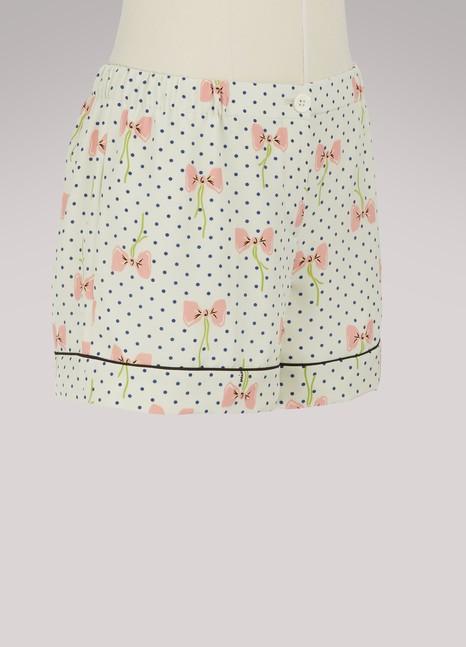 Miu MiuShort pyjama en soie