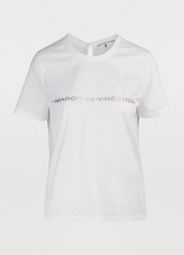 MARCO DE VINCENZOT-Shirt en jersey à manches courtes