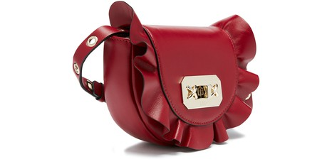 RED VALENTINORuffle leather belt bag