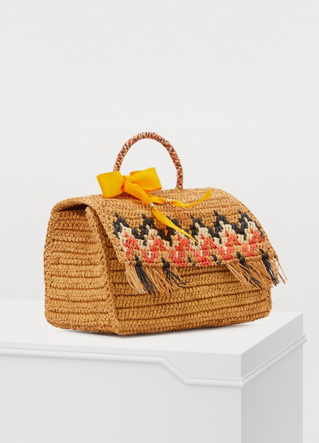 Sensi Studio Zigzag basket with fringes