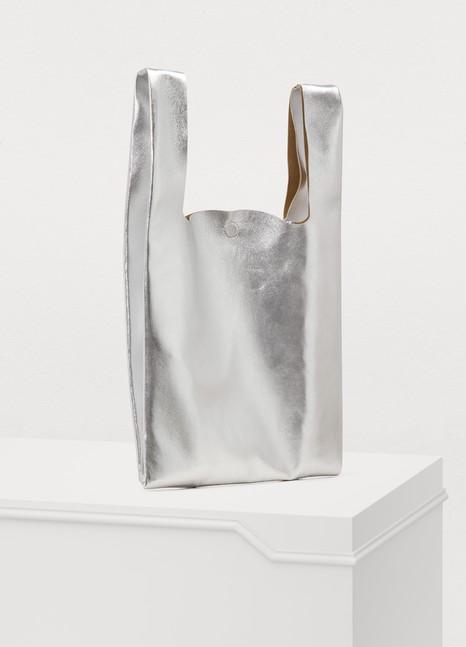 Maison MargielaLeather tote bag