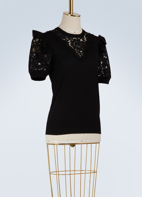 Dolce & Gabbana Lace and wool sweater