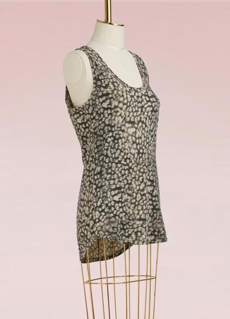 MAJESTIC FILATURESDébardeur léopard en coton et cachemire