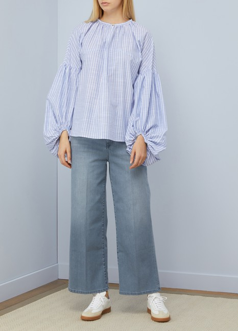 hot sales 3d308 12a4e Blusa Manica Lunga cotton top