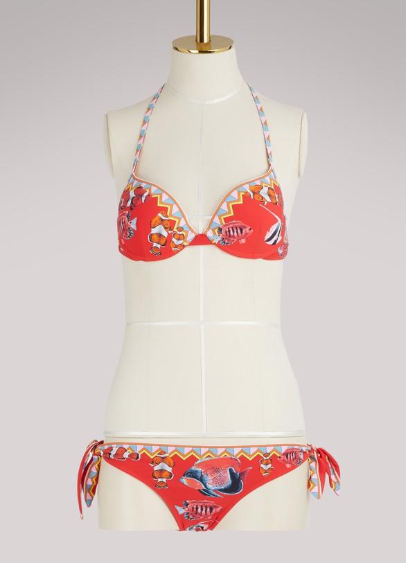 Dolce & GabbanaFish print bikini