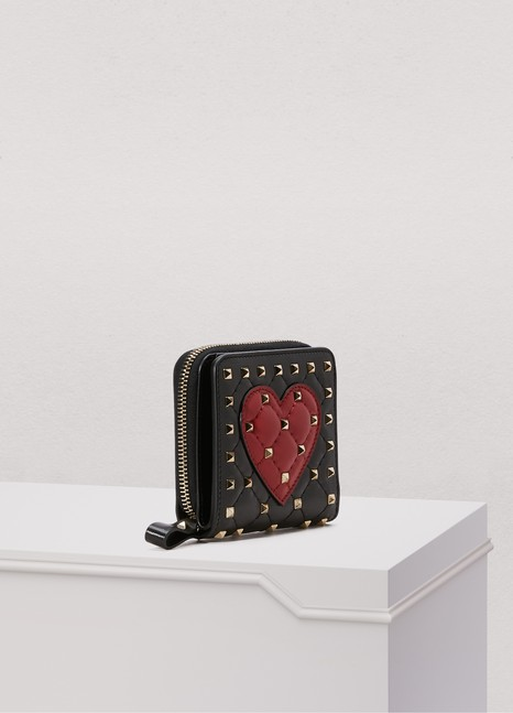 Valentino Spike Heart wallet