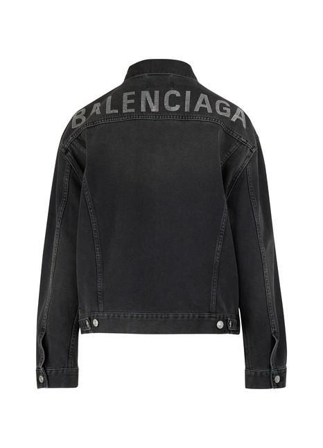 BALENCIAGARhinestone logo jacket