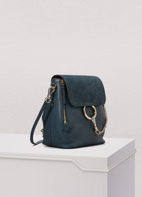 ChloéFaye suede and smooth calfskin backpack