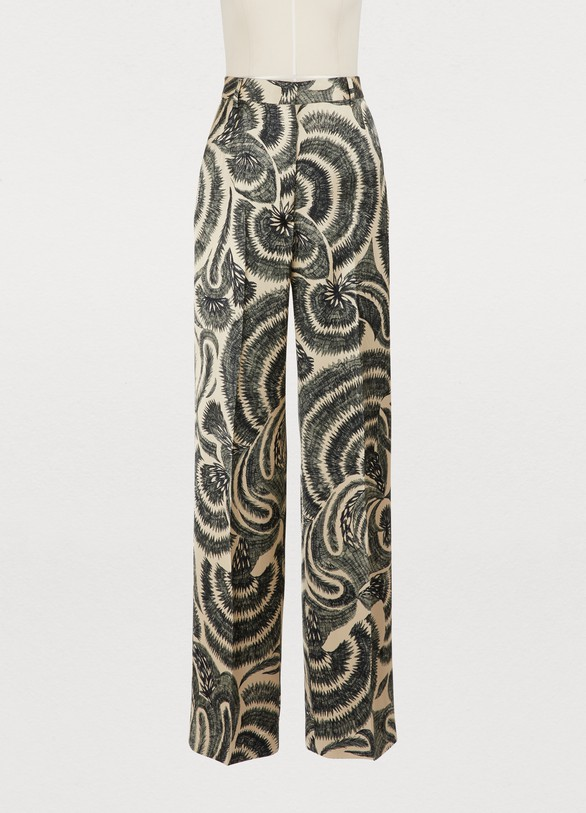 Dries Van Noten Pantalon imprimé