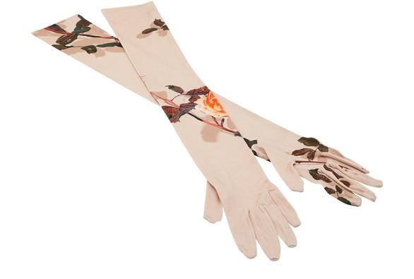 DRIES VAN NOTENLong printed gloves
