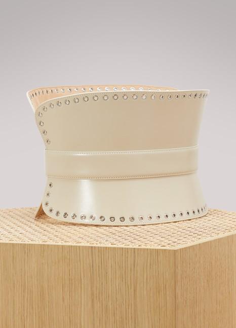 Alexander McQueenCeinture corset en cuir